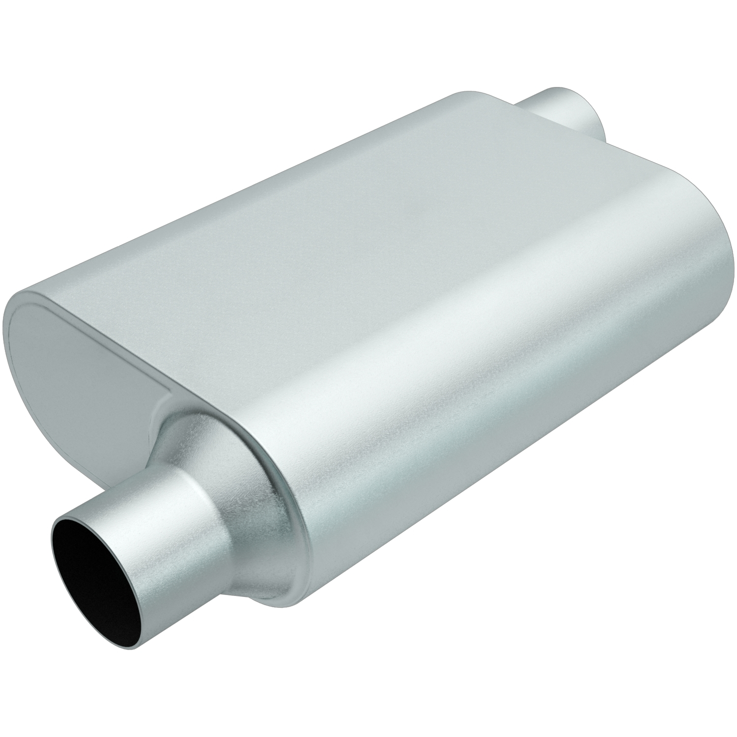 Rumble Aluminizd Muffler 2.5in Offset In/Out