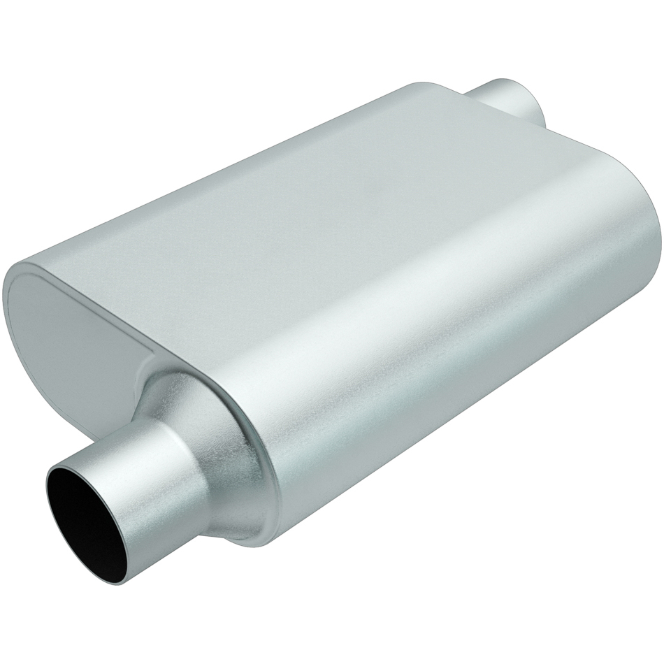 Rumble Aluminizd Muffler 3in Offset In/Out