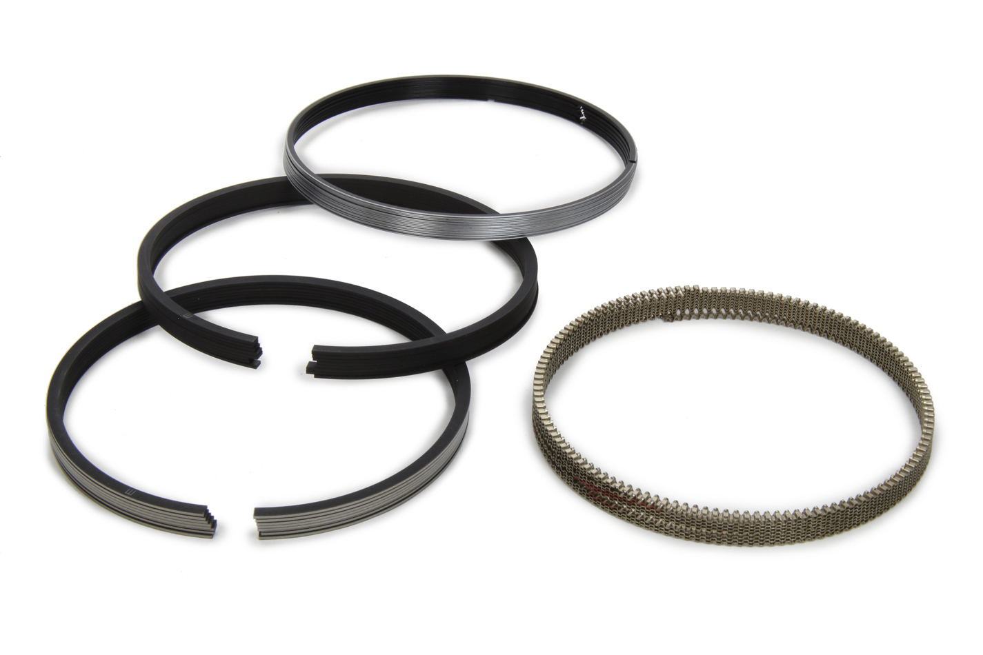 Mahle Pistons 4030MS Piston Rings, 4.030 in Bore, File Fit, 1/16 x 1/16 x 3/16 in Thick, Standard Tension, Iron, 8 Cylinder Set, Kit