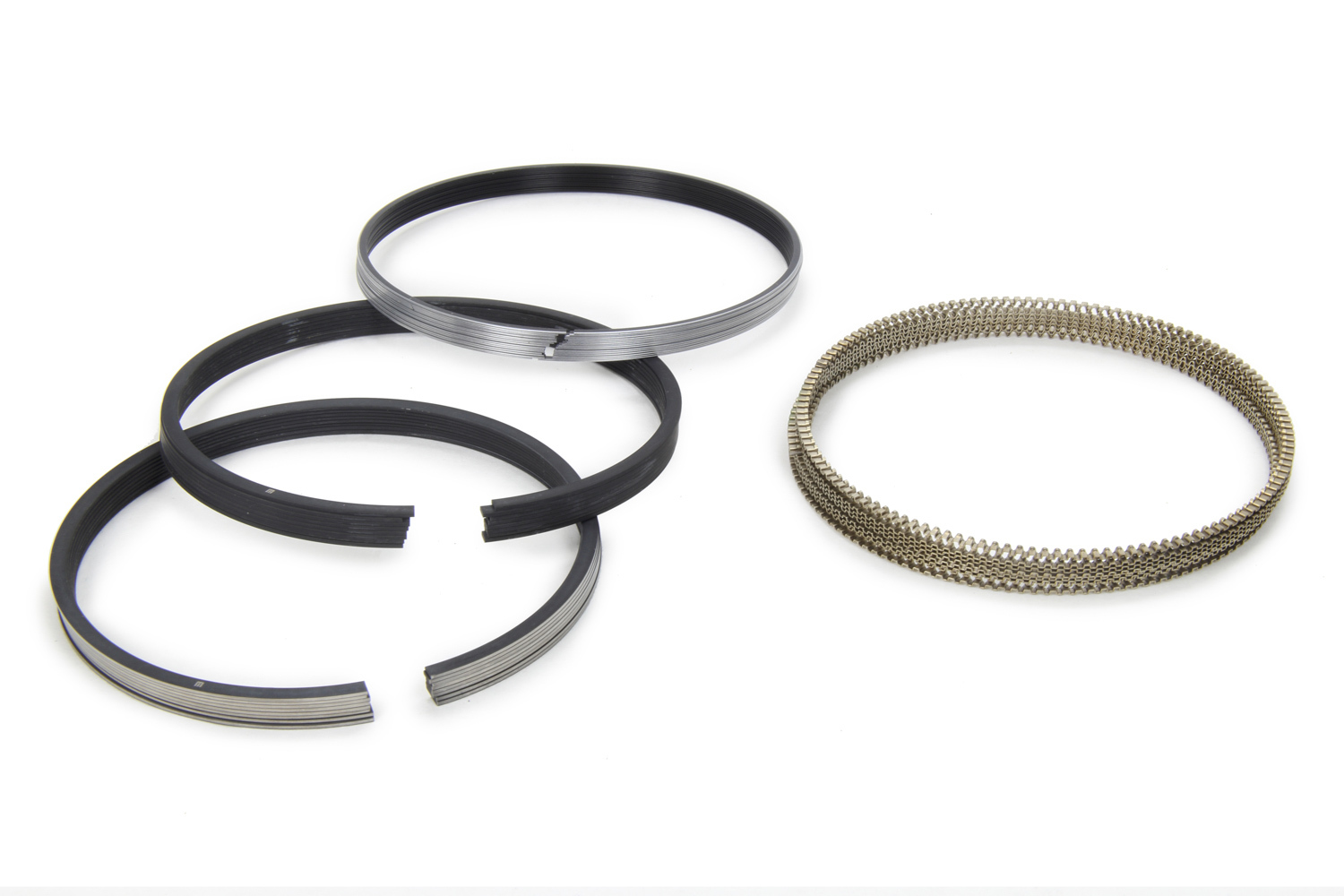 Mahle Pistons 4080MS-112 Piston Rings, 4.075 in Bore, File Fit, 1.0 x 1.0 x 2.0 mm Thick, Standard Tension, Iron, 8 Cylinder Set, Kit