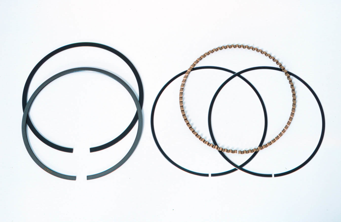 Mahle Pistons 4160ML Piston Rings, 4.155 in Bore, File Fit, 1/16 x 1/16 x 3/16 in Thick, Low Tension, Plasma Moly, 8 Cylinder, Kit