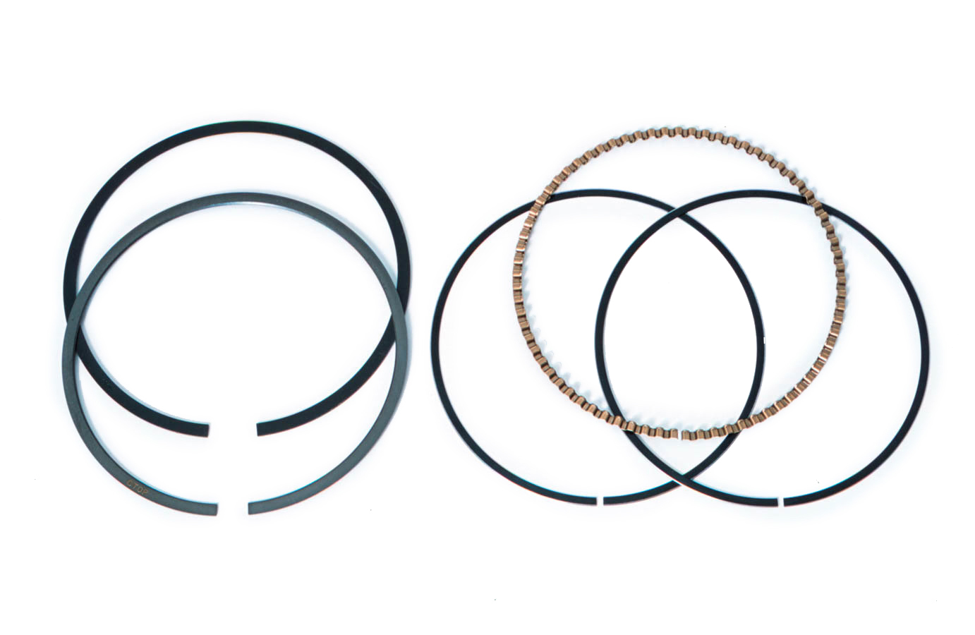 Mahle Pistons 4160MS-112-1 Piston Rings, 4.155 in Bore, File Fit, 1.0 x 1.0 x 2.0 mm Thick, Standard Tension, Steel, Each