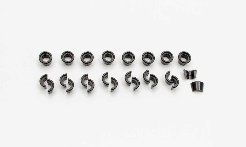 Manley 13096-16 Valve Lock, 10 Degree, 5/16 in Valve Stem, Standard Height, Steel, Natural, Set of 32