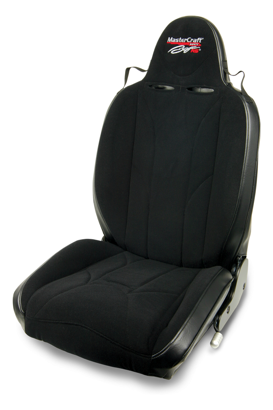 Mastercraft 504024 Seat, Baja RS, Driver Side, Reclining, Hip / Side Bolsters, Harness Openings, Cloth / Vinyl, Black, Each