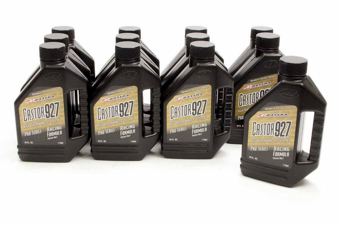 Maxima Racing Oils 23916 2 Stroke Oil, Castor 927, Conventional, 16 oz Bottle, Set of 12