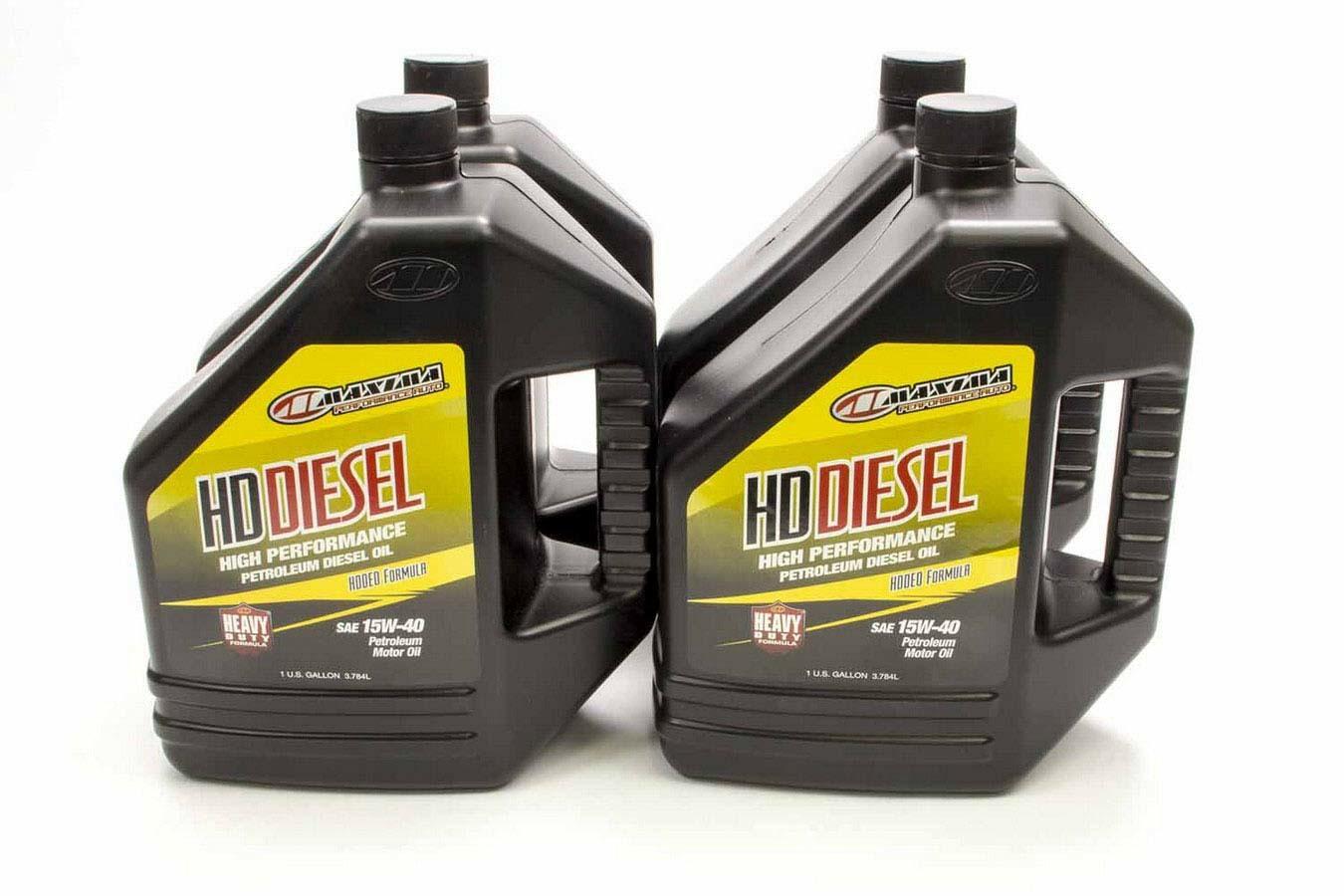 Maxima Racing Oils 39-029128 Motor Oil, HD Diesel, 15W40, Conventional, 1 gal Bottle, Diesel Engines, Set of 4