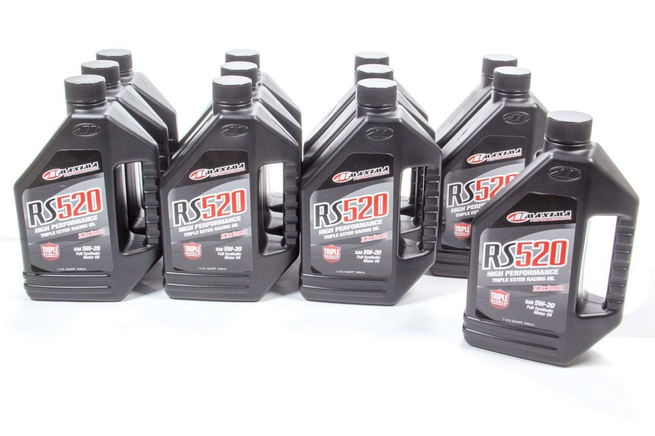 Maxima Racing Oils 39-04901 Motor Oil, RS520, 5W20, Synthetic, 1 qt Bottle, Set of 12