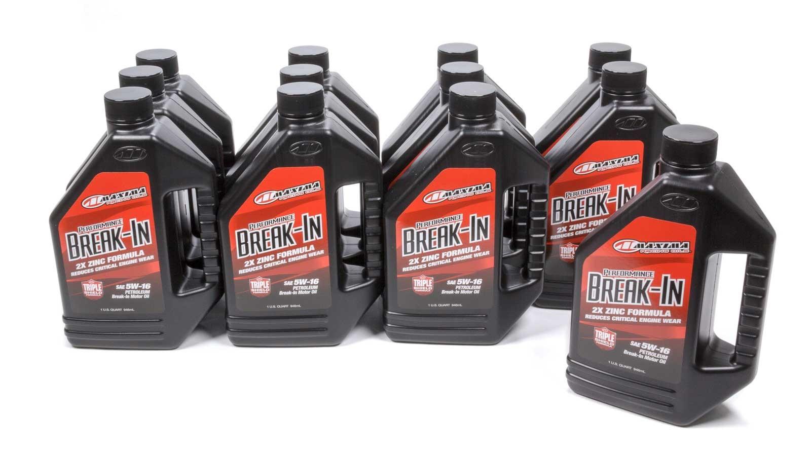 Maxima Racing Oils 39-09901 Motor Oil, Performance Break-In, High Zinc, 5W16, Conventional, 1 qt Bottle, Set of 12