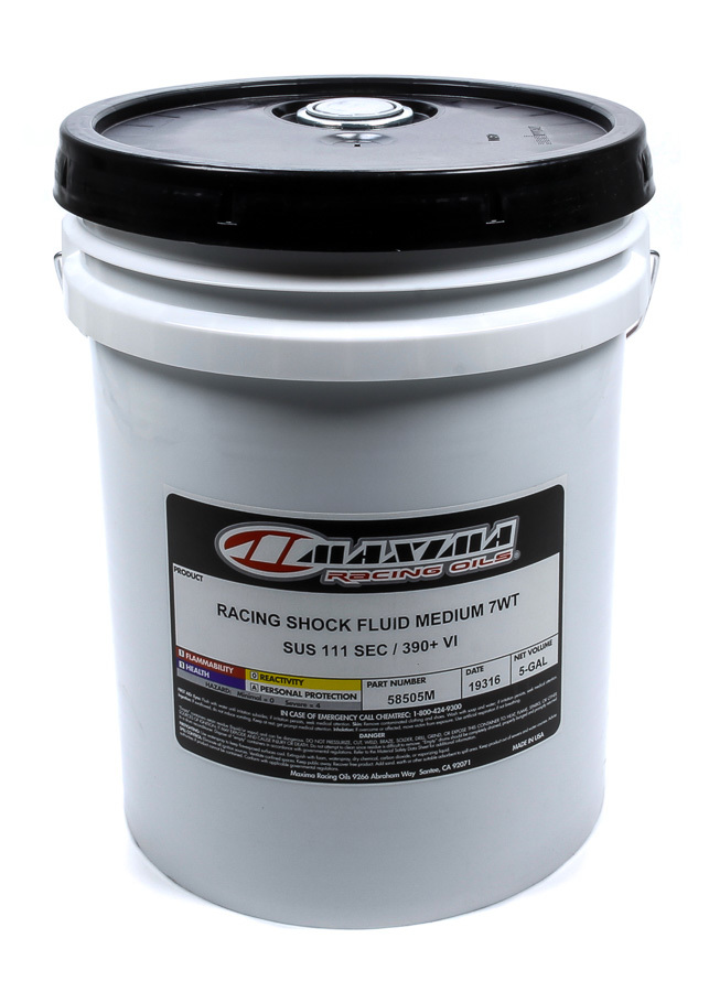 Racing Shock Fluid Medium 7wt. 5 Gallon