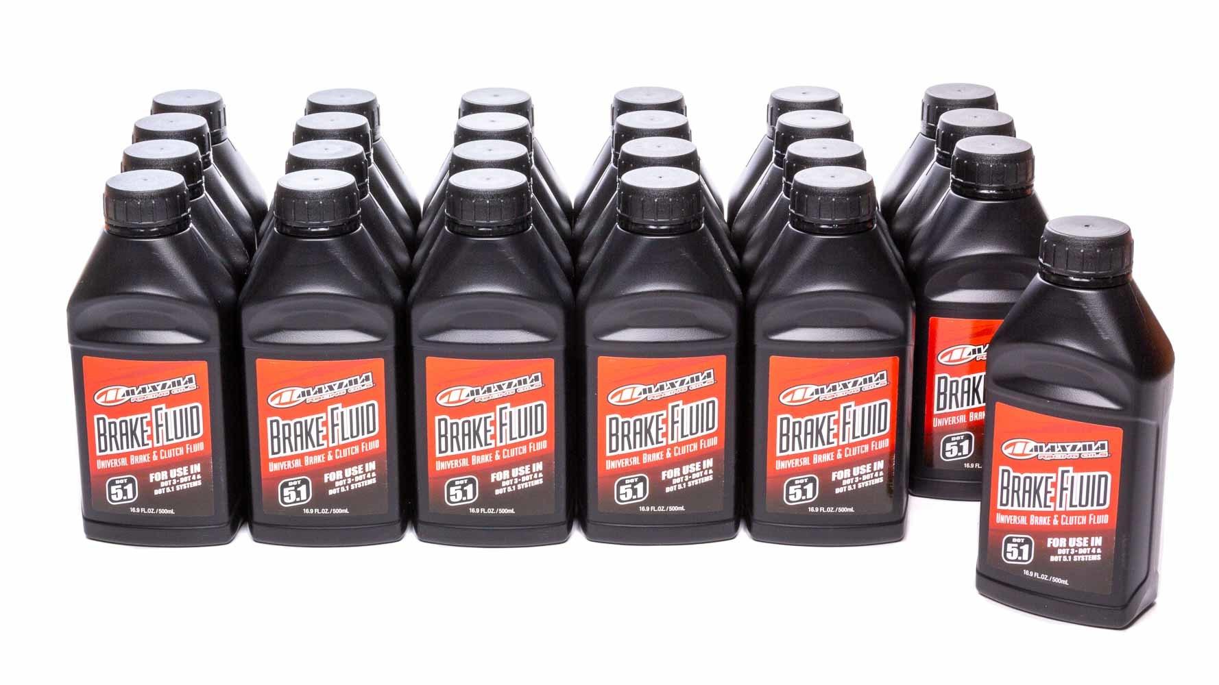 Maxima Racing Oils 80-82916 Brake Fluid, DOT 5.1, Synthetic, 16.90 oz Bottle, Set of 24