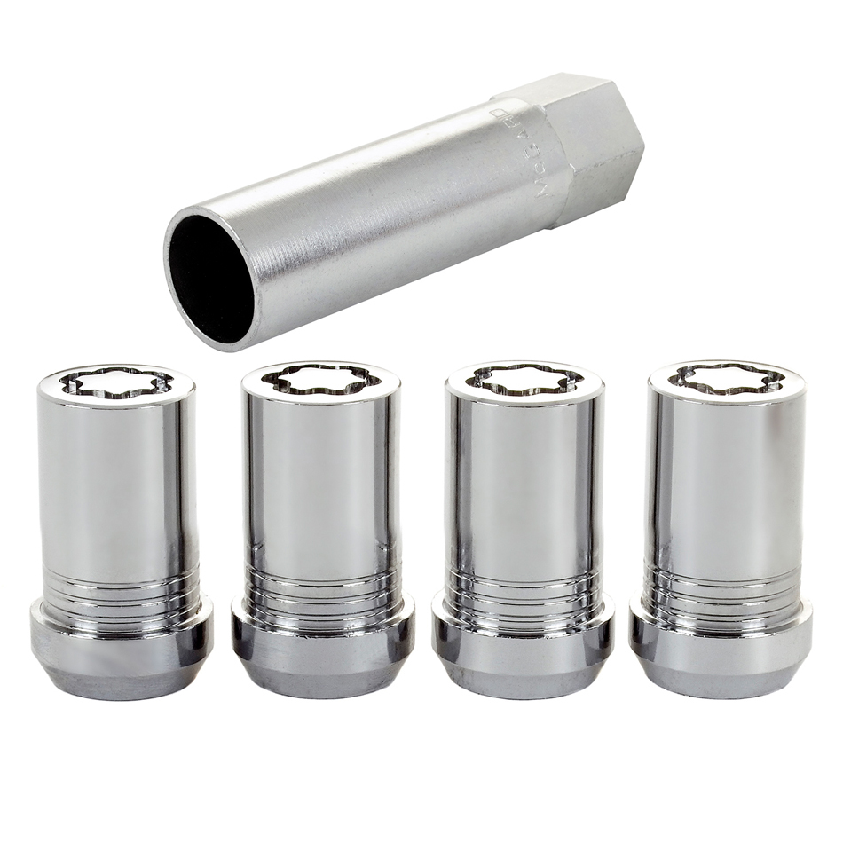 Wheel Locks 14mm x 1.5 Cone Seat 4 Pack Chrome