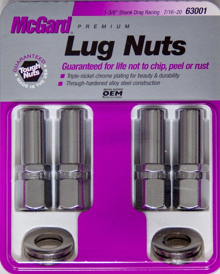 LUG NUT 7/16 X-LONG SHANK RACE