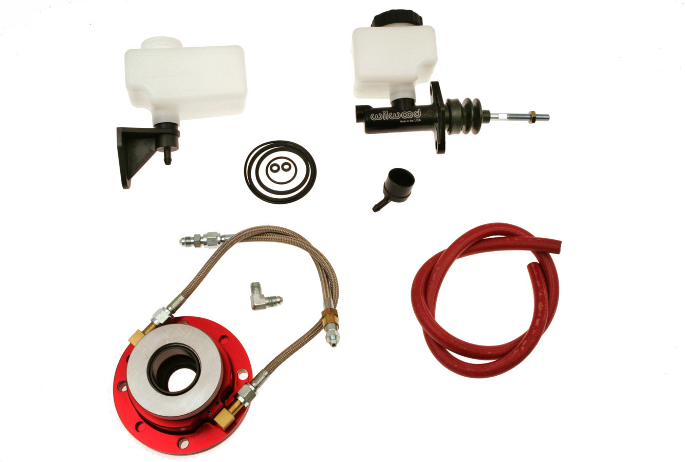 McLeod 13005 Throwout Bearing Kit, 1300 Series, Hydraulic, Bolt-On, Braided Stainless Lines, 3/4 in Master Cylinder, GM Muncie, Kit
