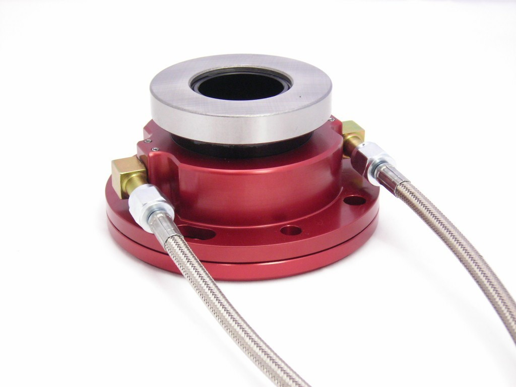 McLeod 1308 Throwout Bearing, 1300 Series, Hydraulic, Bolt-on, 4.680 in Collar ID, Braided Stainless Lines, GM Richmond 5/6 Speeds, Each