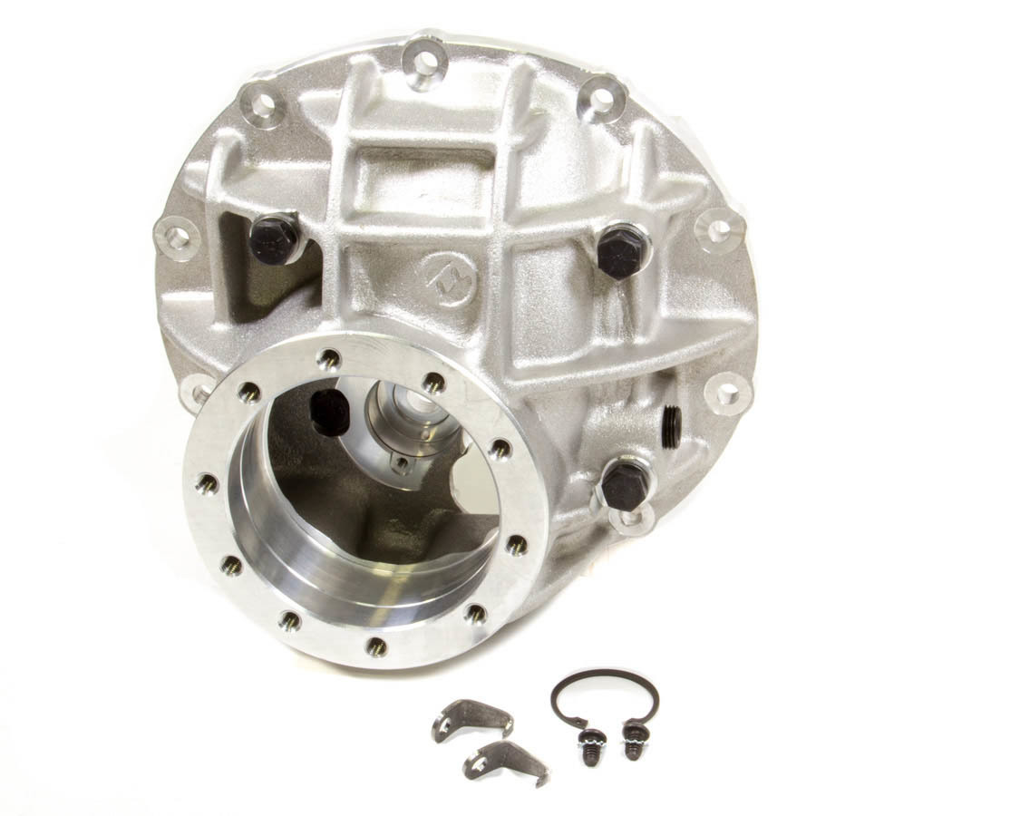 Moser Engineering 3250ALU Differential Case, Pro Case, 3.250 in Bore, Adjusters / Aluminum Through Bolt Caps, Aluminum, Natural, Ford 9 in, Each