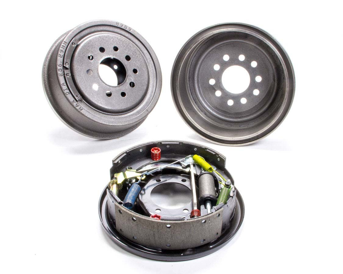 Moser Engineering 6010 Brake System, Rear, 10 in Plain Drum, Backing Plate / Hardware / Shoes Included, Iron, Natural, Order Bolt Pattern, Big Ford / Torino Ends, Kit