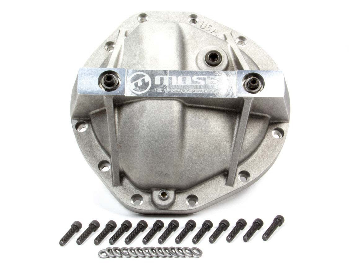 Moser Engineering 7111 Differential Cover, Performance, Gasket / Hardware Included, Aluminum, Natural, Truck, GM 12-Bolt, Each