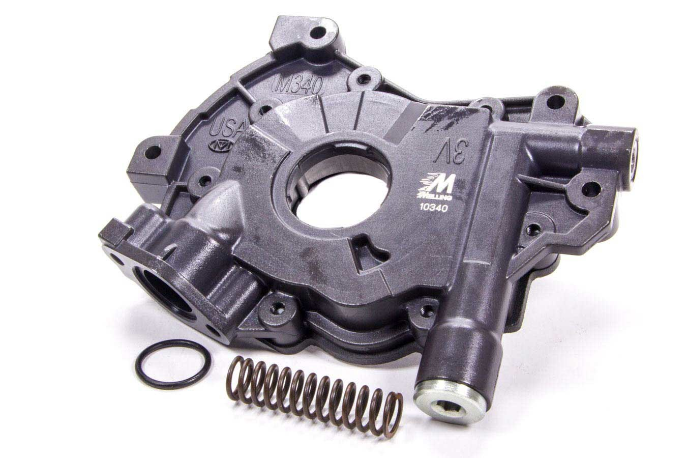 Melling 10340 Oil Pump, Wet Sump, Internal, Standard Volume, High Pressure, 15/16 in Inlet, Ford Modular, Each