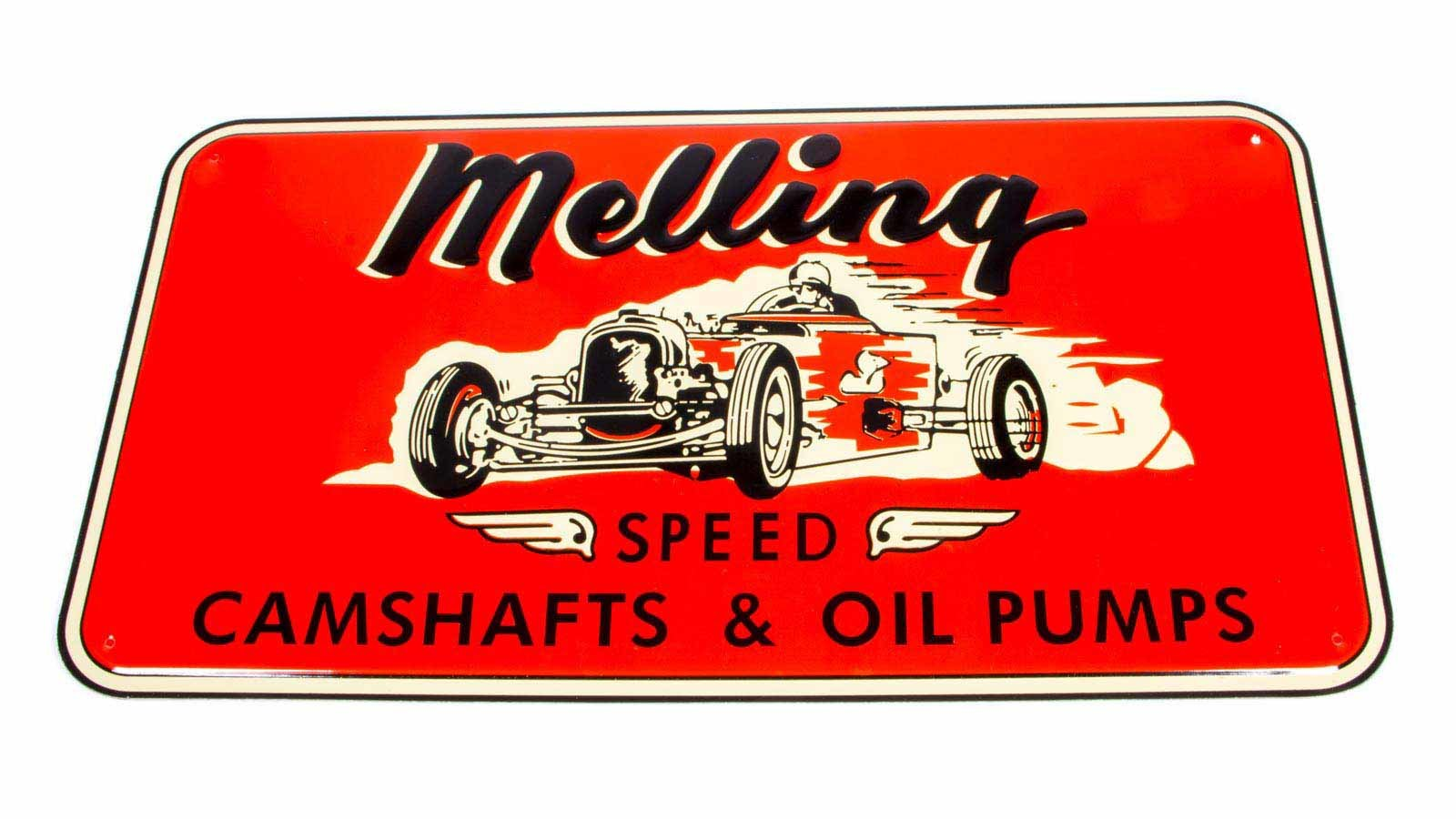 1950 Nostalgic Metal Sign - Red (Race Car)