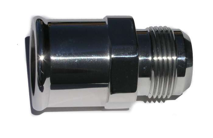 -16an Male to 1-1/2 Hose Adapter - Polished