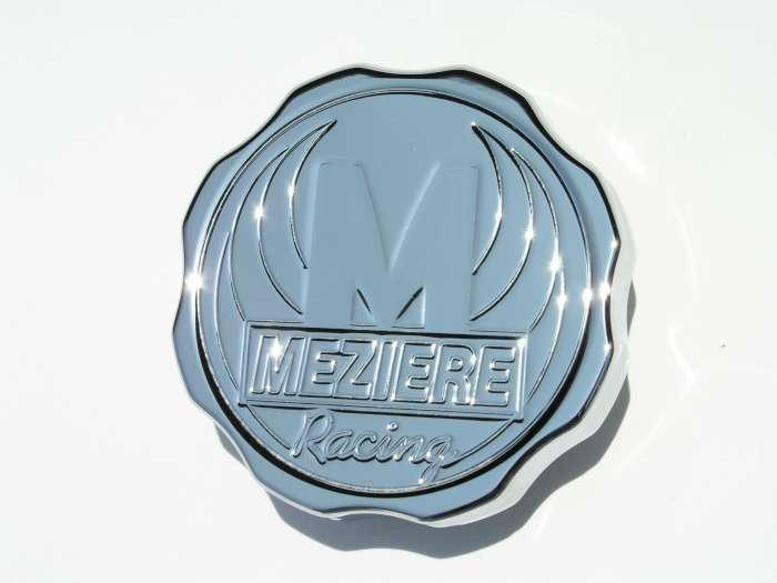 Meziere WCC00216C Radiator Cap, 16 lb, Round, Meziere Racing Logo, Notch Grip, Aluminum, Chrome, Standard Size Radiator Necks, Each