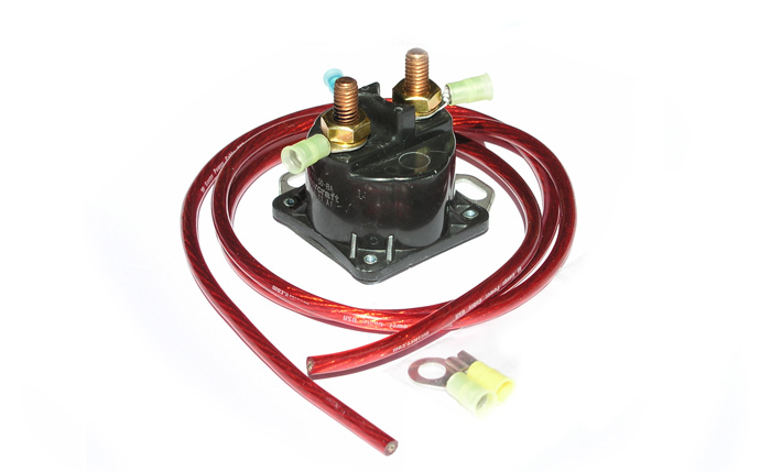 Meziere WIK400 Starter Relay, True Start, 200 amp, 12V, Wiring Pigtail Included, Amperage Boost, Universal, Kit