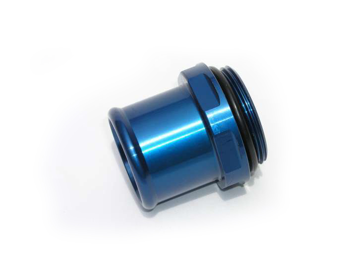 Meziere WN0041B Blue Water Neck Fitting for 20 AN Hose