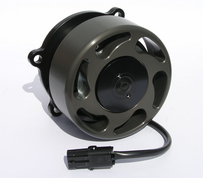 Meziere WP346S Water Pump, Electric, Street Style, Gaskets / Hardware / Wiring, Aluminum, Black Anodized, Ford Modular, Kit