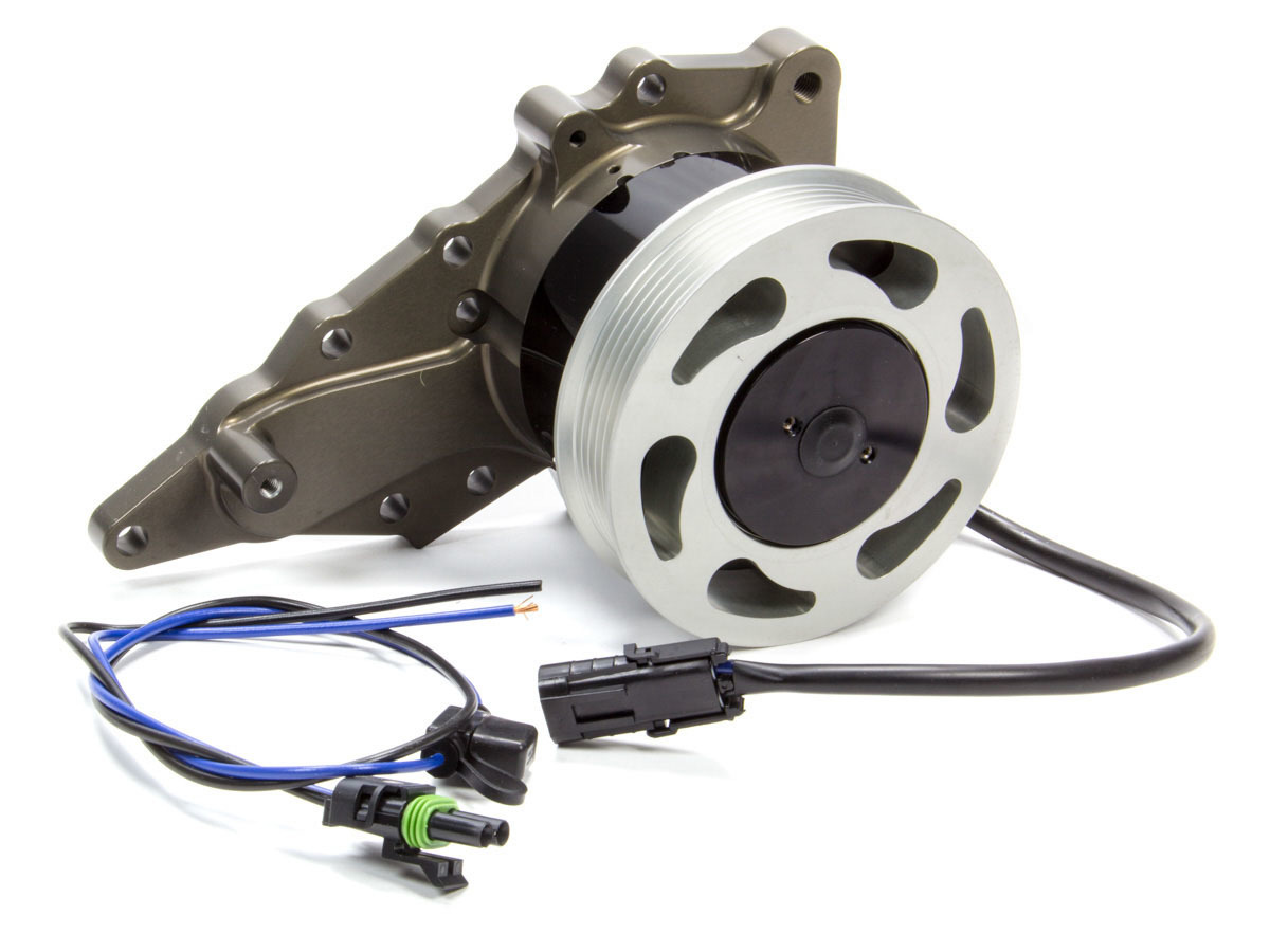 Meziere WP520 Water Pump, Electric, Street Style, 1 in NPT Inlet, Hardware / Wiring, Aluminum, Black Anodized, Toyota Supra 2JZ Turbo, Kit