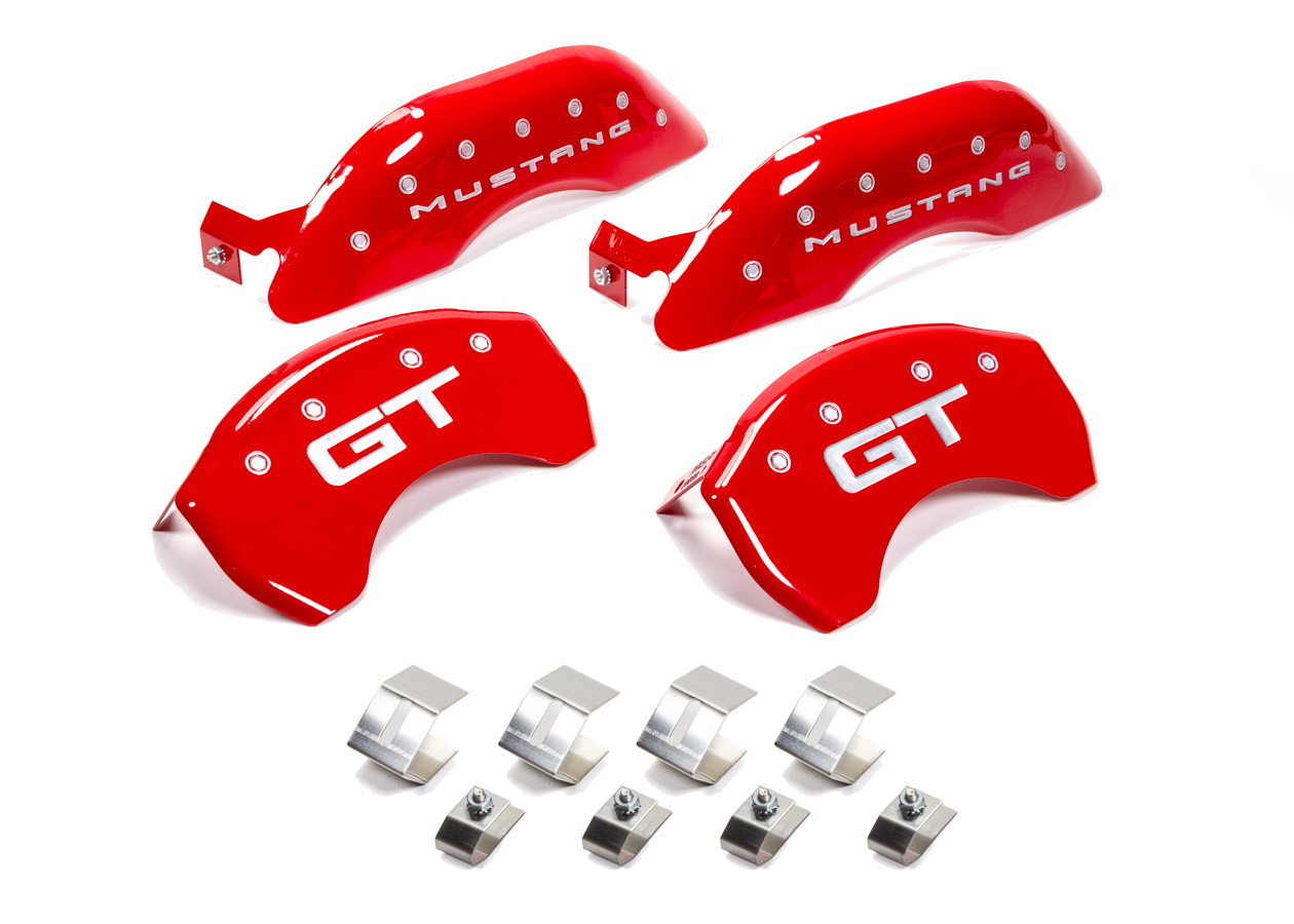 15-   Mustang Caliper Covers Red
