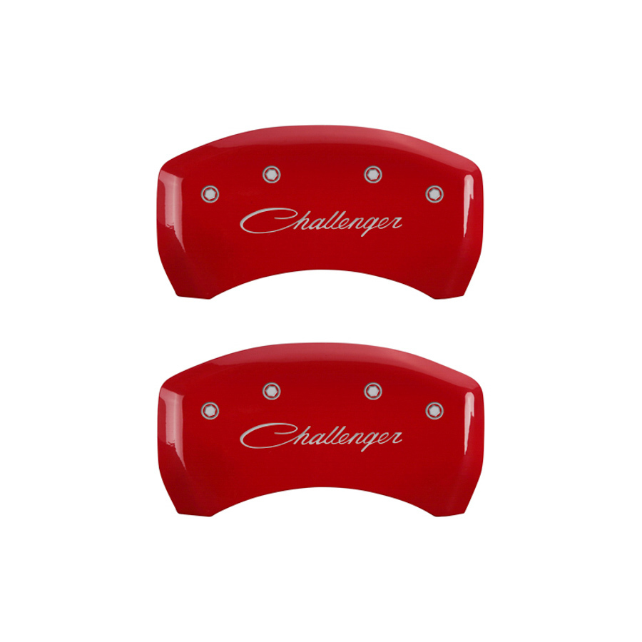 11-   Challenger Caliper Covers Red