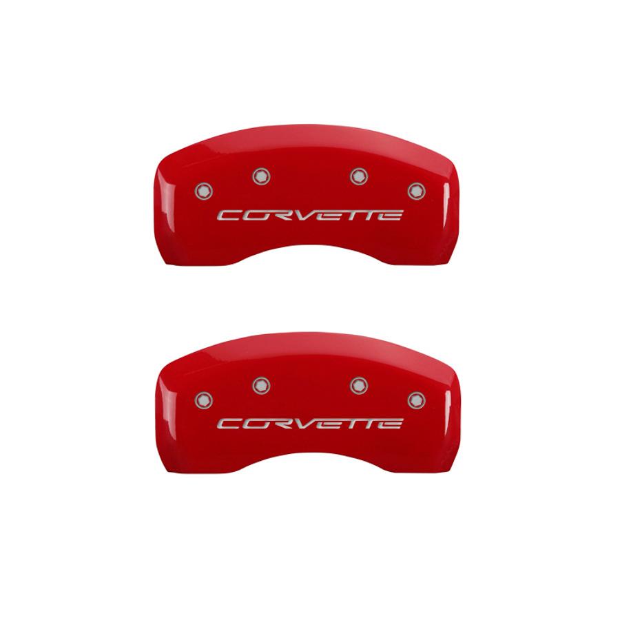 05-13 Corvette Caliper Covers Red