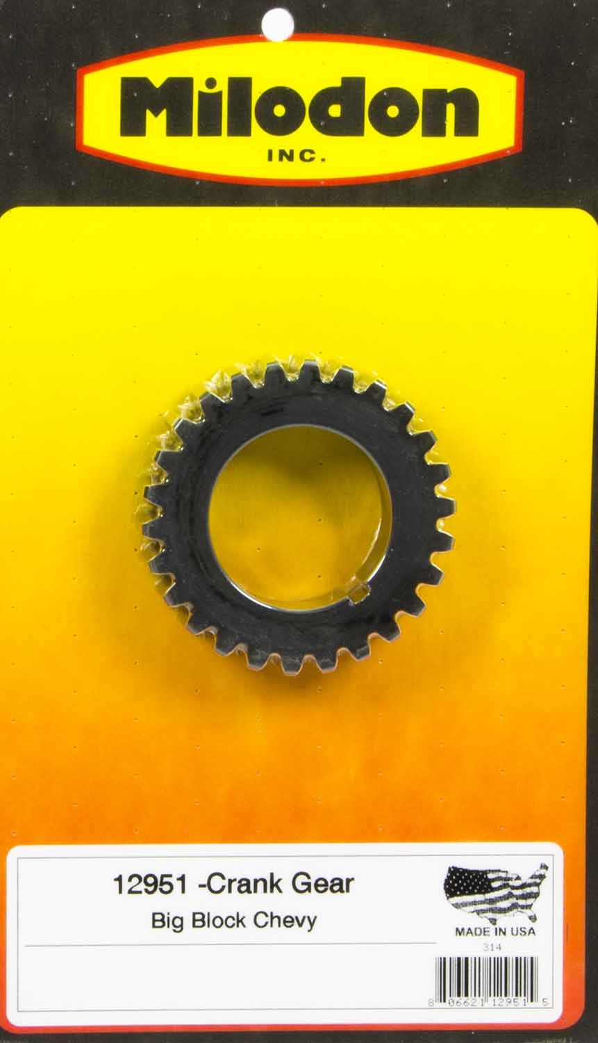 Milodon 12951 Timing Crank Gear, Billet Steel, Milodon Gear Drive, Big Block Chevy, Each