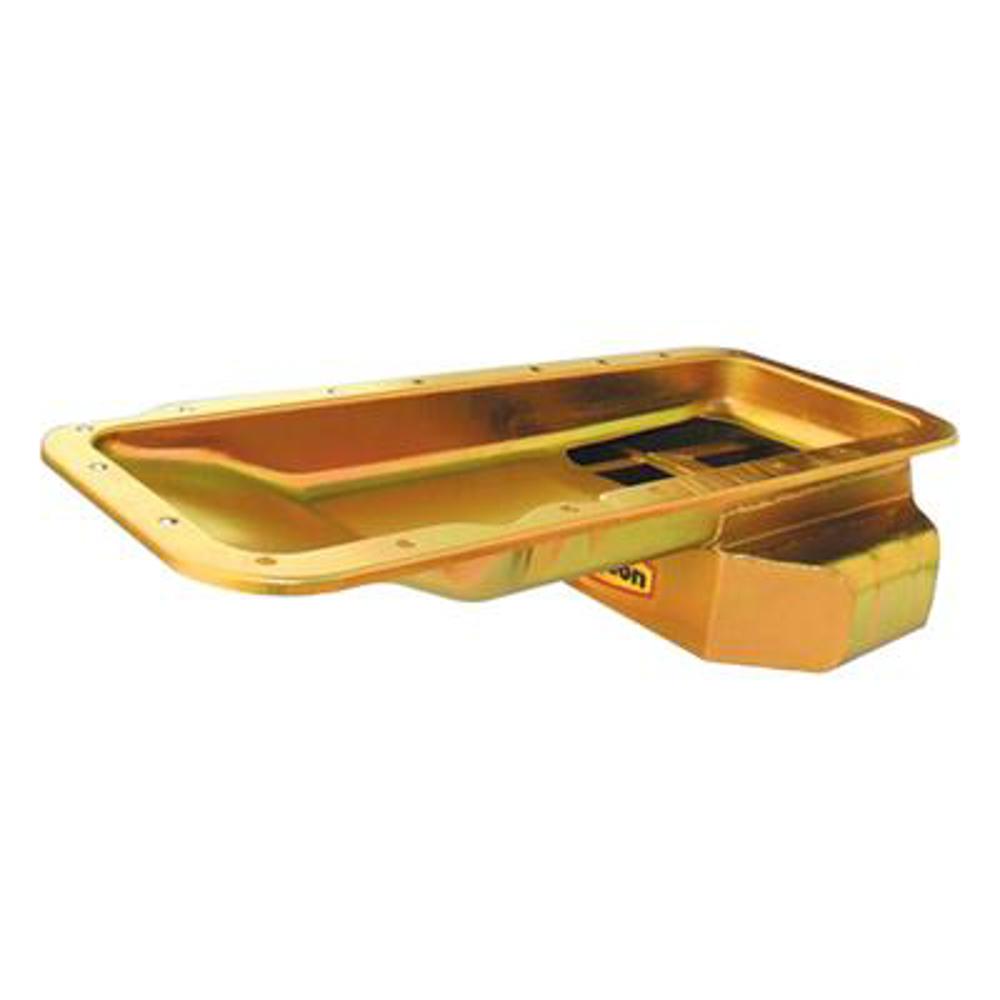 Milodon 31583 Engine Oil Pan, Rear Sump, 7 qt, 5-1/2 in Deep, Steel, Cadmium, Mopar RB Series, Each