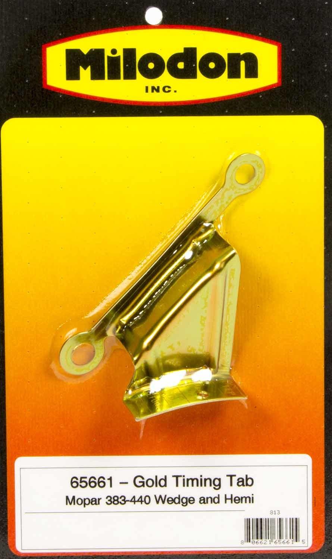 Milodon 65661 Timing Tab, Degreed, Steel, Cadmium, Mopar B / RB-Series / Hemi, Each
