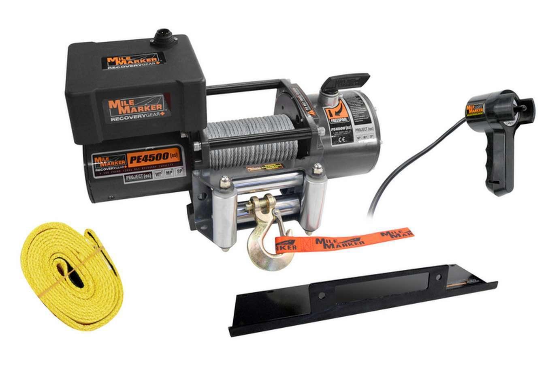4500lb Winch w/Roller Fairlead 12' Remote