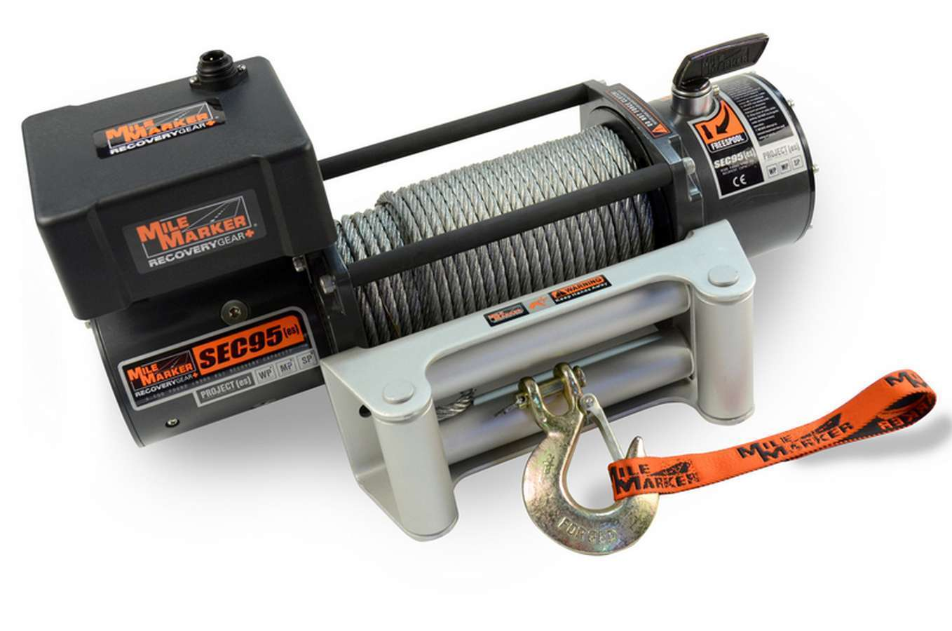 9500lb Winch w/Roller Fairlead 12' Remote
