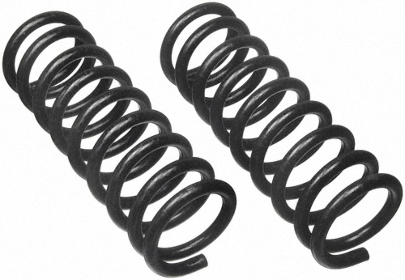 Moog 6310 Coil Spring, Conventional, 3.630 in ID, 10.250 in Length, 329 lb/in Spring Rate, Front, Black Paint, Pair