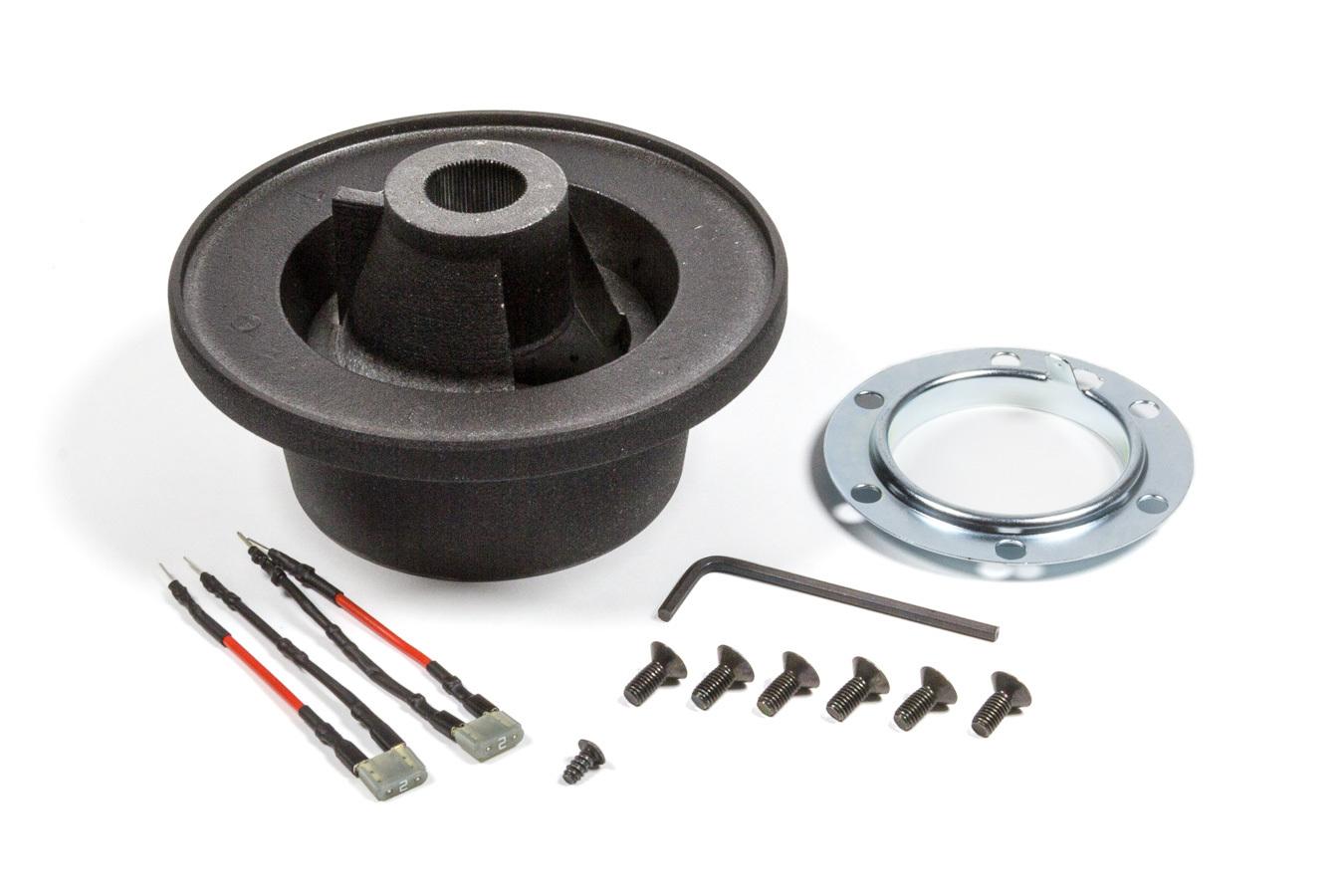 Momo 2013 Steering Wheel Adapter, Momo Wheel to OE Column, Hardware / Hub, Aluminum, Matte Black Trim, BMW 3 Series E90, Kit