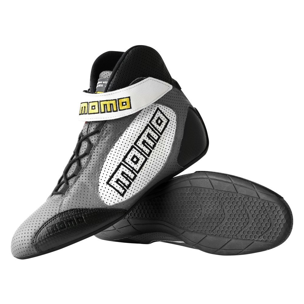 GT PRO Racing Shoes Grey 12 Calf Airleather