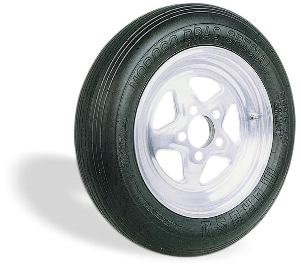 Moroso 17050 Tire, Drag Front, Drag Special, 25.5 x 5.5-15, Bias-Ply, 2 Ply Nylon, Each