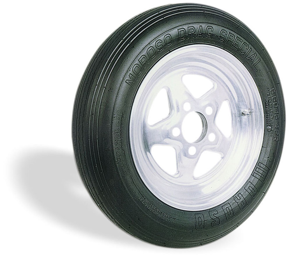 Moroso 17600 Tire, Drag Front, Drag Special, 29.2 x 7.6-15, Bias-Ply, 2 Ply Nylon, Each