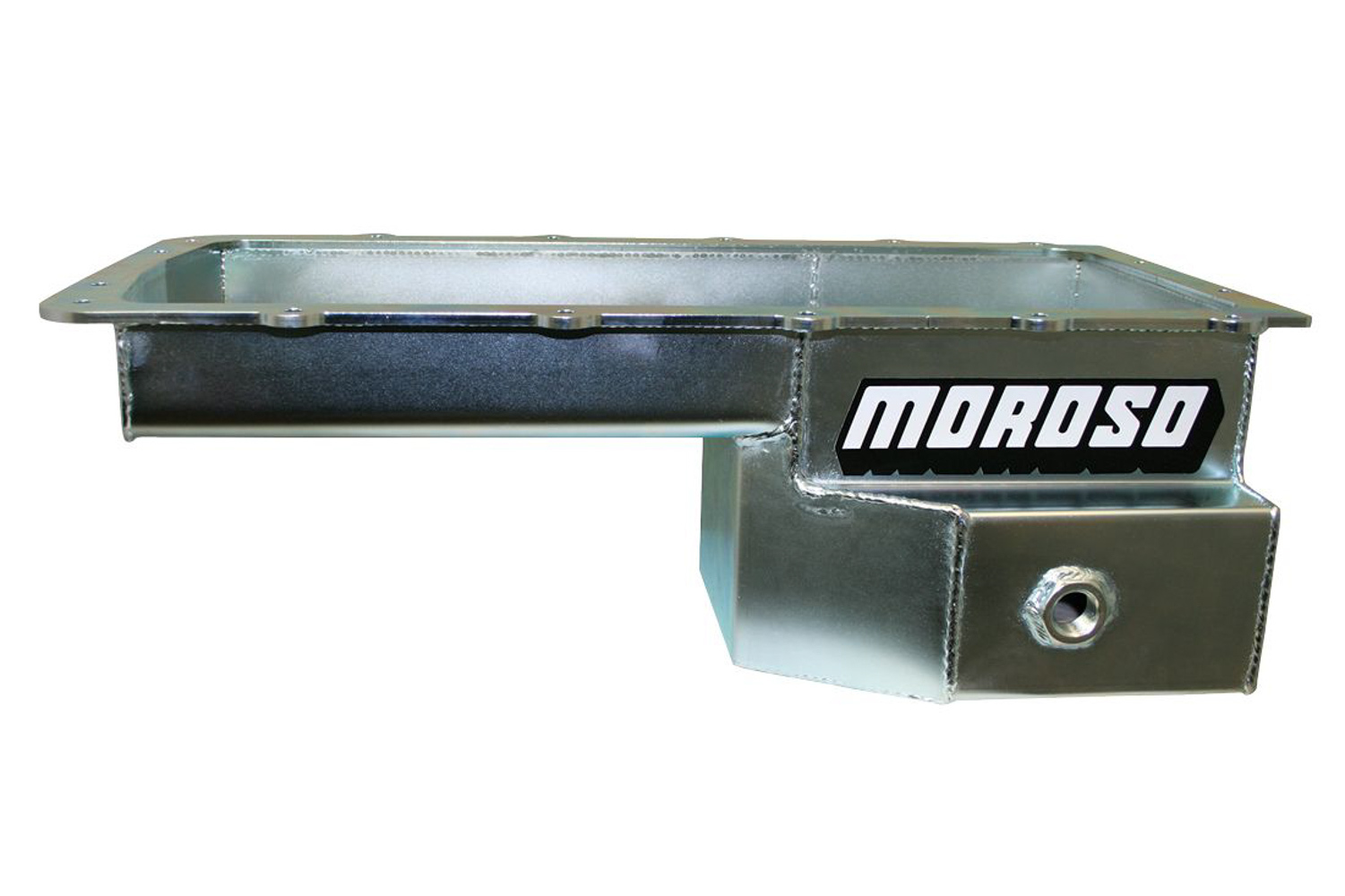 Moroso 20575 Engine Oil Pan, Road Race, Rear Sump, 7.5 qt, 6.625 in Deep, Baffled, Steel, Zinc Oxide, Ford Coyote, Ford Mustang 1979-93, Each