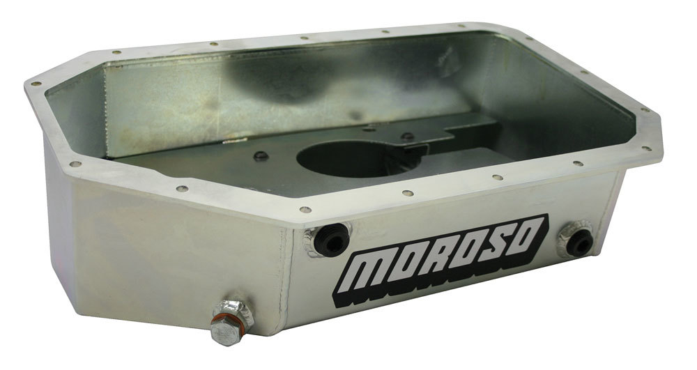 Moroso 20915 Engine Oil Pan, Street / Strip, Driver Side Sump, 6.50 qt, 5.500 in Deep, Baffled, Steel, Zinc Oxide, Honda 4-Cylinder, Each