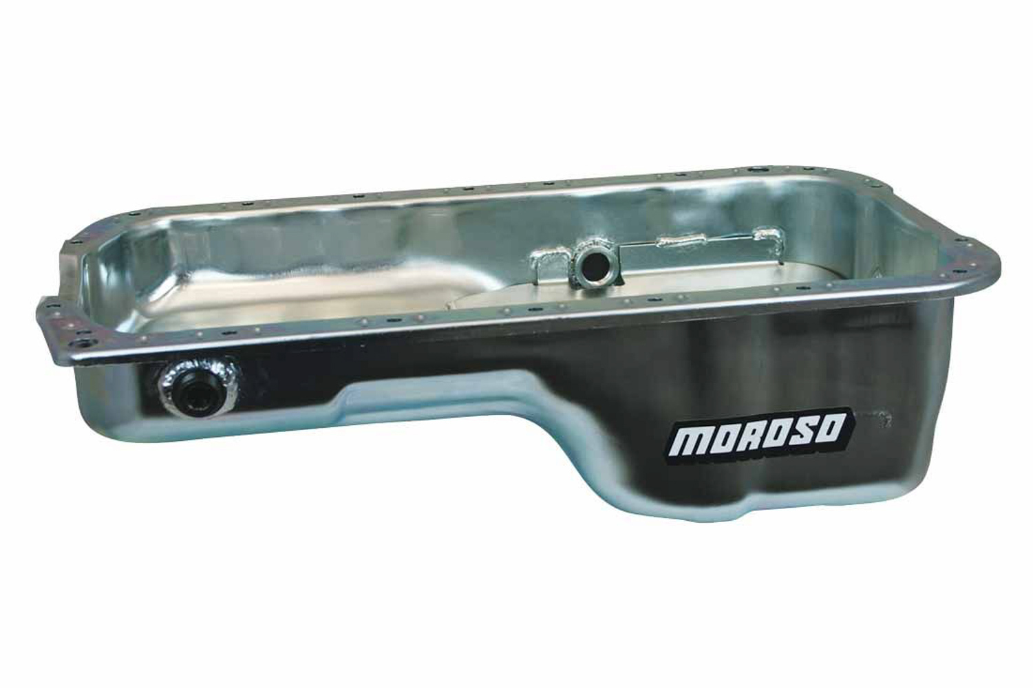 Moroso 20916 Engine Oil Pan, Stock Replacement, Driver Side Sump, 4 qt, 5-1/4 in Deep, Baffled, Steel, Zinc Oxide, Honda H-Series, Each