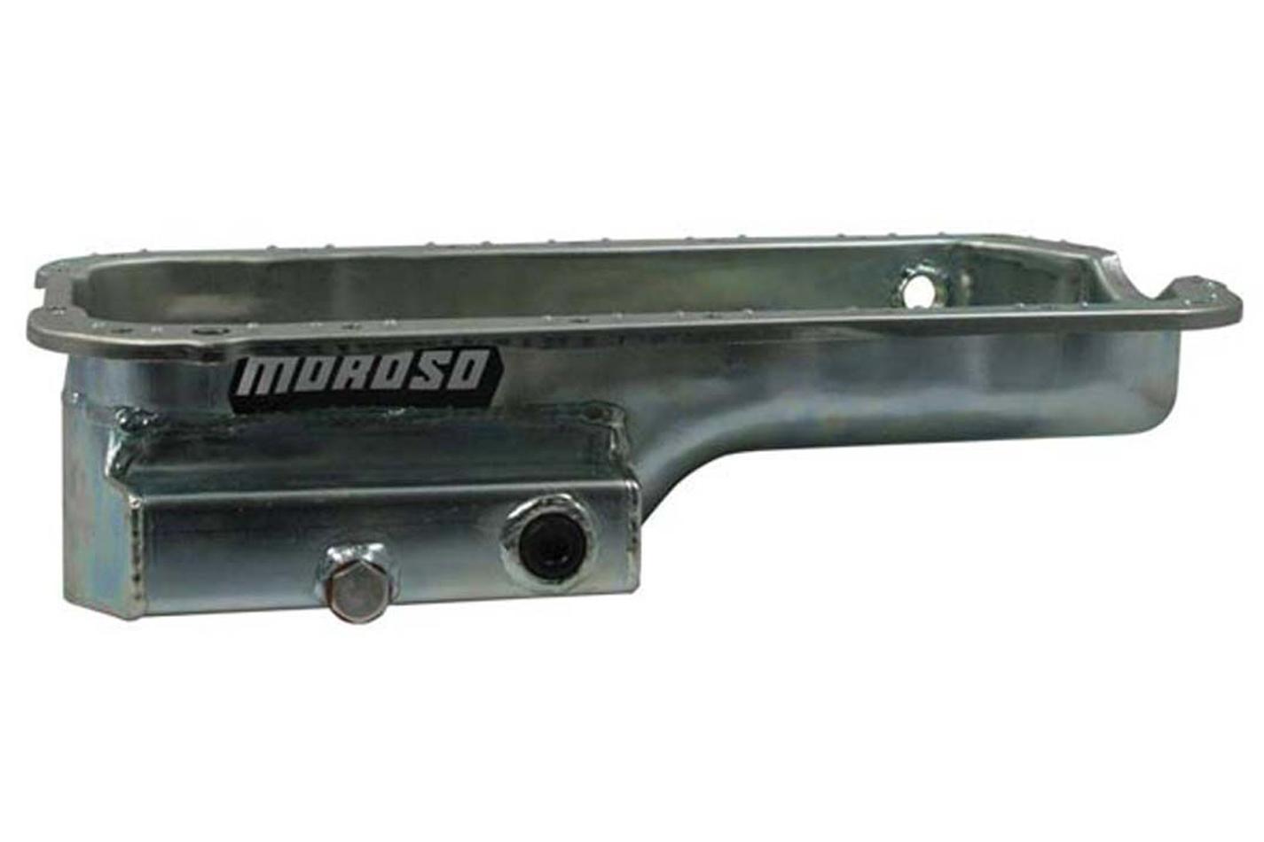 Moroso 20917 Engine Oil Pan, Road / Drag Race, 7 qt, 5.522 in Deep, Steel, Zinc Oxide, Honda H-Series, Each