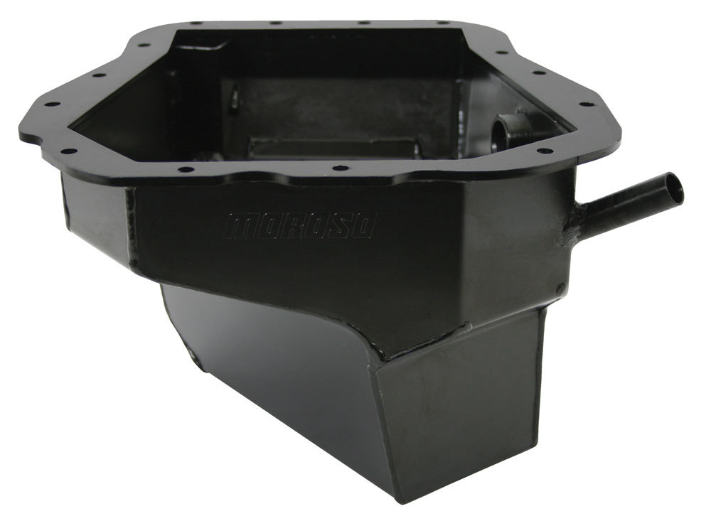 Moroso 20966 Engine Oil Pan, Street / Competition, Deep Sump, 6 qt, 6-15/16 in Deep, Steel, Black Zinc, Subaru EJ-Series, Each