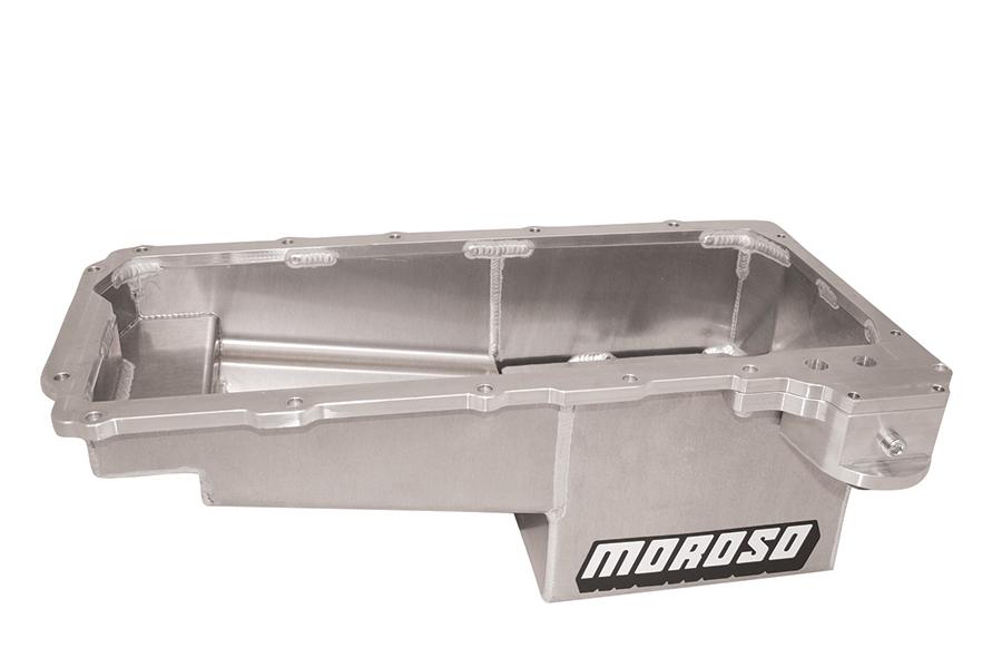 Moroso 21158 Engine Oil Pan, Drag Race, Wet Sump, 7 qt Capacity, 7-5/8 in Deep, Aluminum, Natural, GM LS-Series, COPO, Chevy Camaro 2010-15, Each