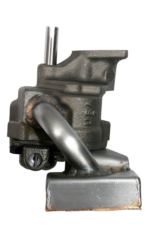 Moroso 22186 Oil Pump, Wet Sump, Internal, High Volume, Welded Offset Pickup, Steel, 8 in Deep Pan, Big Block Chevy, Each
