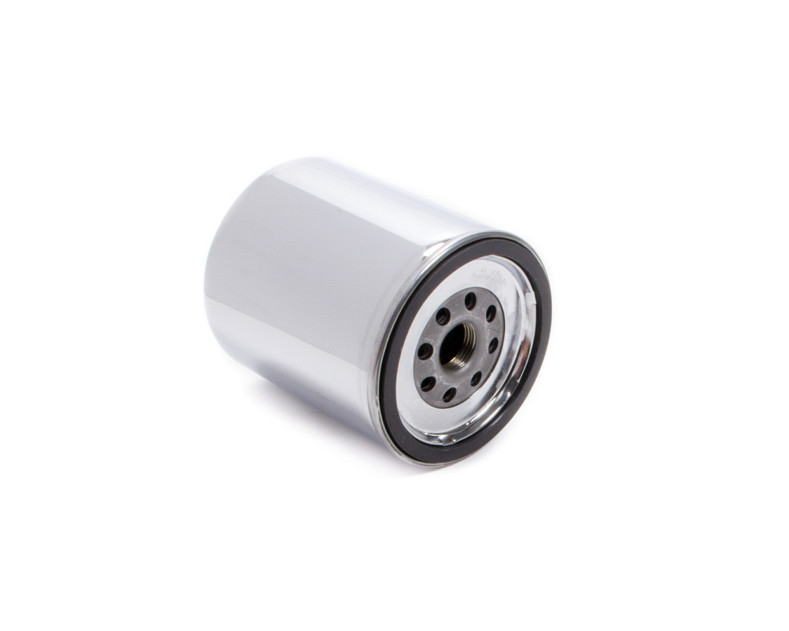 Moroso 22300 Oil Filter, Canister, Screw-On, 4-9/32 in Tall, 13/16-16 in Thread, Steel, Chrome, Chevy Short Type, Each